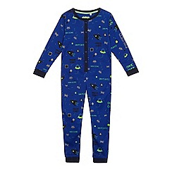 bluezoo - Boys' blue printed onesie