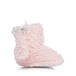 bluezoo - Girls' faux fur poodle slippers