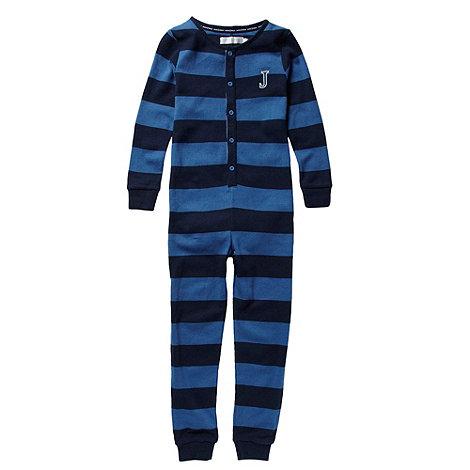 J by Jasper Conran - Boy+s blue striped onesie