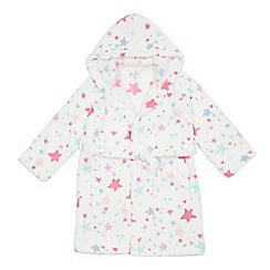 bluezoo - Girls' white star dressing gown