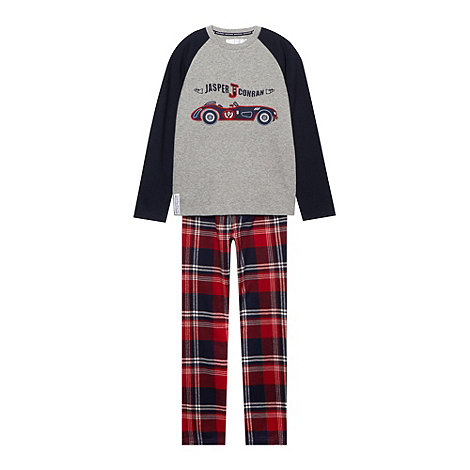J by Jasper Conran - Boy+s red checked pyjamas