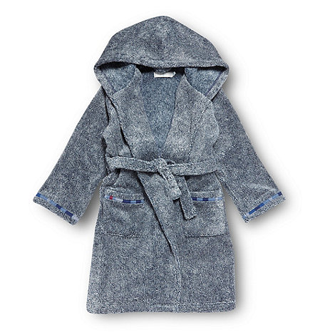 J by Jasper Conran - Boy+s navy marl dressing gown