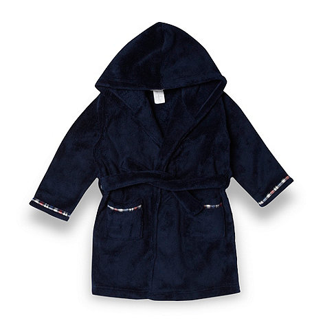 J by Jasper Conran - Designer boy+s navy fleece dressing gown