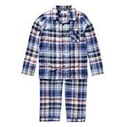 Boy's blue woven checked pyjamas
