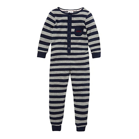 J by Jasper Conran - Boy+s grey striped onesie