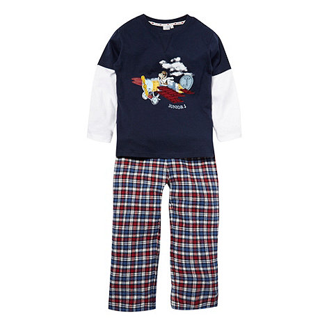 J by Jasper Conran - Boy+s blue mock sleeved pyjama set