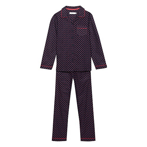 J by Jasper Conran - Girl+s navy floral pyjamas