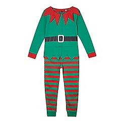 bluezoo - Boys' green and red elf onesie