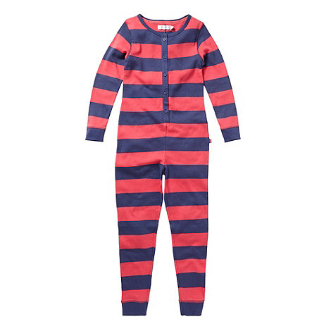 J by Jasper Conran - Girl+s pink striped onesie