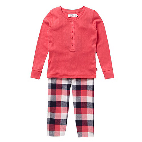 J by Jasper Conran - Girl+s pink pointelle pyjamas
