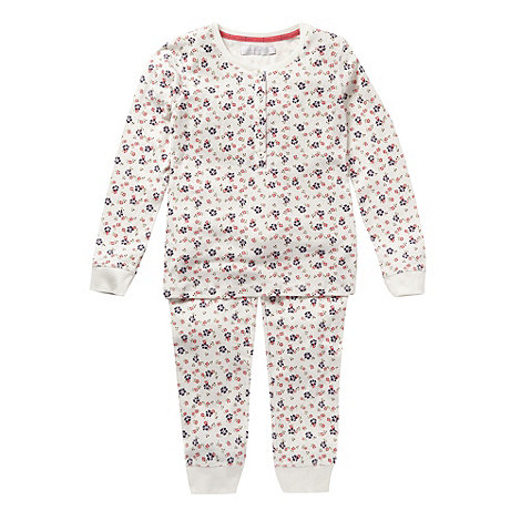 J by Jasper Conran - Girl's pink pointelle pyjamas