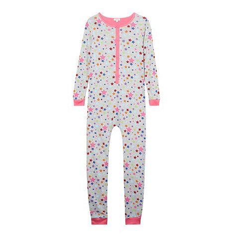 bluezoo - Girl+s grey star onesie