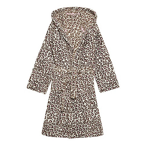 bluezoo - Girl+s brown leopard printed dressing gown