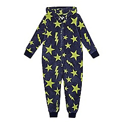 bluezoo - Boys' navy star print onesie