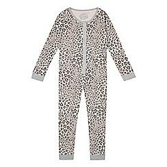 bluezoo - Girls' pink leopard print onesie