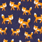 bluezoo - Girl+s navy fox printed onesie Alternative 2