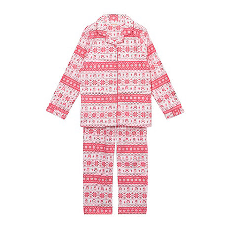 bluezoo - Girl+s pink fairisle pyjamas