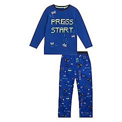 bluezoo - Boys' blue gaming print pyjama set