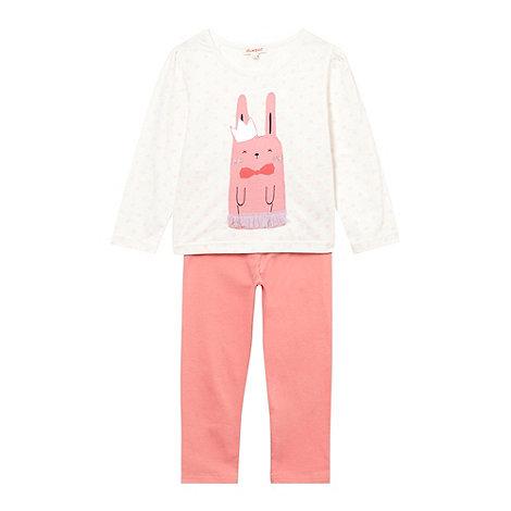 bluezoo - Girl+s pink bunny printed pyjamas
