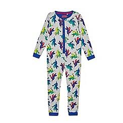 bluezoo - Boys' multi-coloured dinosaur print sleepsuit