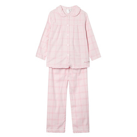 J by Jasper Conran - Girl+s pink gingham pyjamas