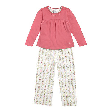 J by Jasper Conran - Girl+s pink pleated pyjamas