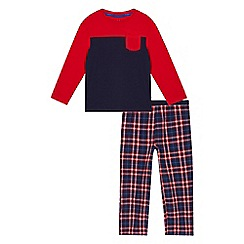 bluezoo - Boys' red and navy pyjama set