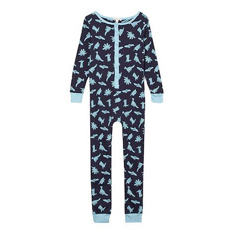 bluezoo - Boy+s blue dino printed onesie