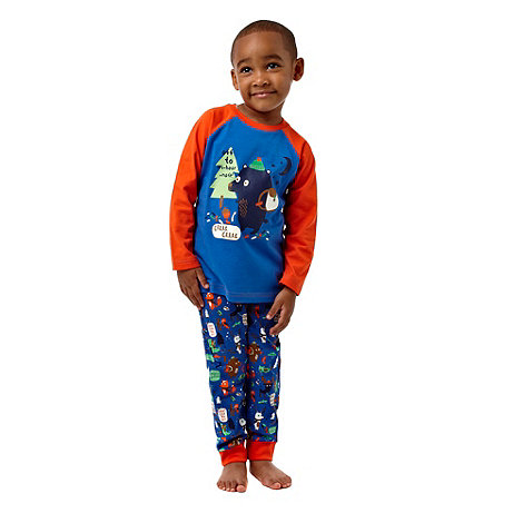 bluezoo - Boy+s blue bear printed pyjamas