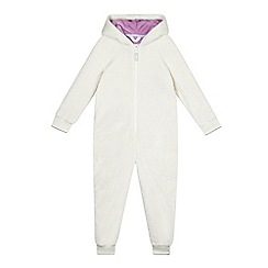 bluezoo - Girls' white unicorn applique onesie