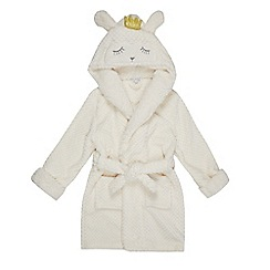 bluezoo - Girls' white sheep hood applique dressing gown