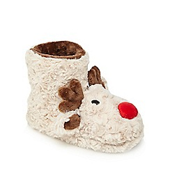 bluezoo - Kids' brown Rudolph slipper boots