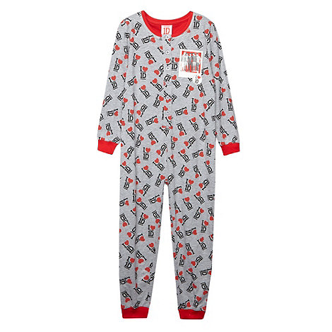 One Direction - Girl+s grey One Direction onesie