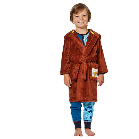 The Gruffalo - Boy+s brown +Gruffalo+ dressing gown