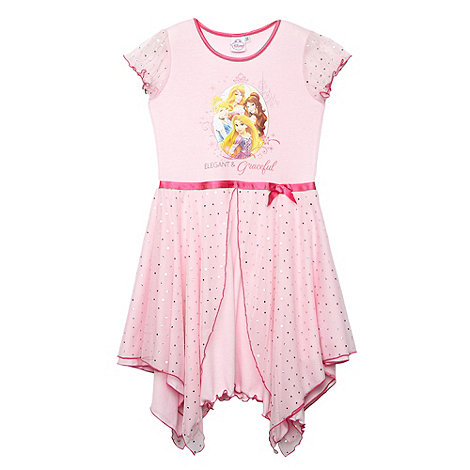 Disney Princess - Girl+s pink +Disney Princess+ nightie