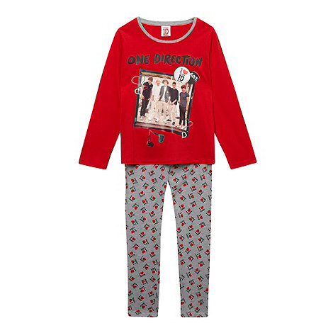 One Direction - Girl+s red +One Direction+ pyjama set
