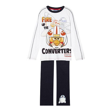 Angry Birds Star Wars - Boy+s white +Angry Birds Star Wars+ pyjamas