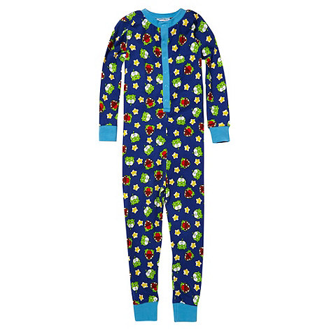 Cut the rope - Boy+s multi printed onesie.