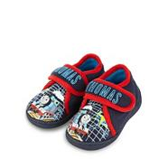 Boy's navy 'Thomas' printed slippers