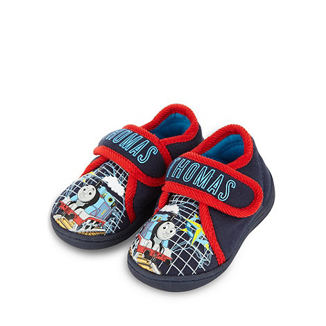 Thomas & Friends - Boy+s navy +Thomas+ printed slippers