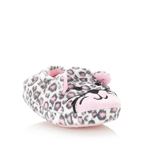 bluezoo - Girl+s pink leopard slippers