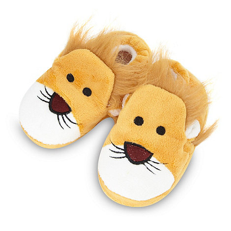 bluezoo - Boy+s yellow lion slippers