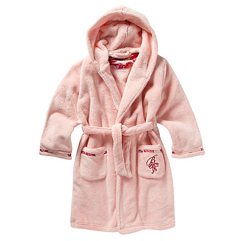 Baker by Ted Baker - Girl+s pink embroidered fleece dressing gown