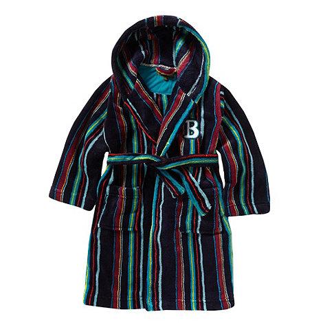 Baker by Ted Baker - Designer boy+s navy striped dressing gown