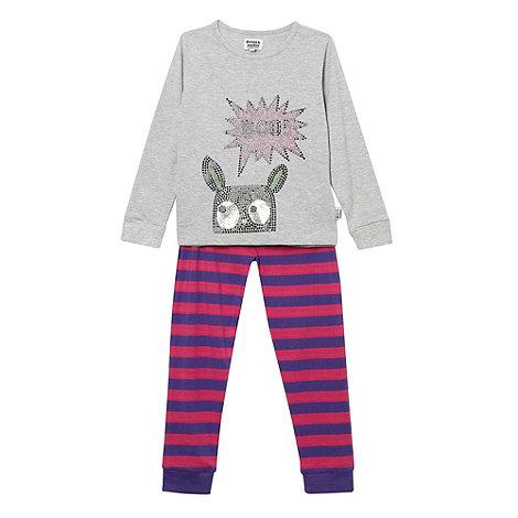 Donna & Markus by Markus Lupfer - Designer girl+s grey +Boo+ pyjama set