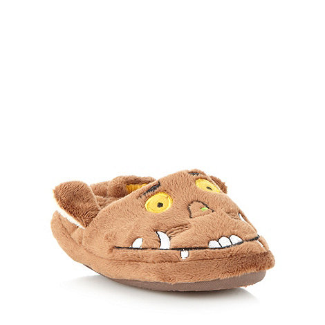 The Gruffalo - Boy+s brown +Gruffalo+ slippers