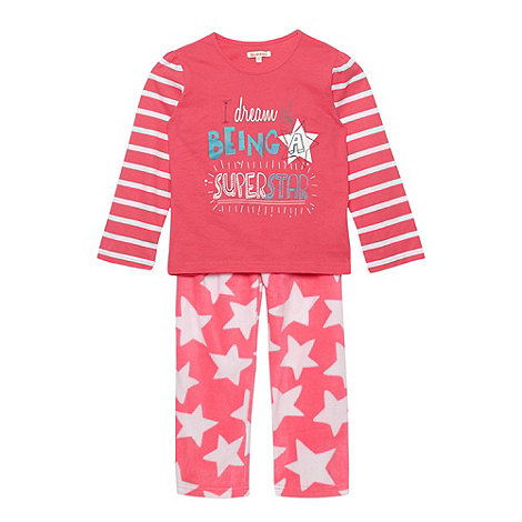 bluezoo - Girl+s bright pink +Superstar+ printed pyjama set