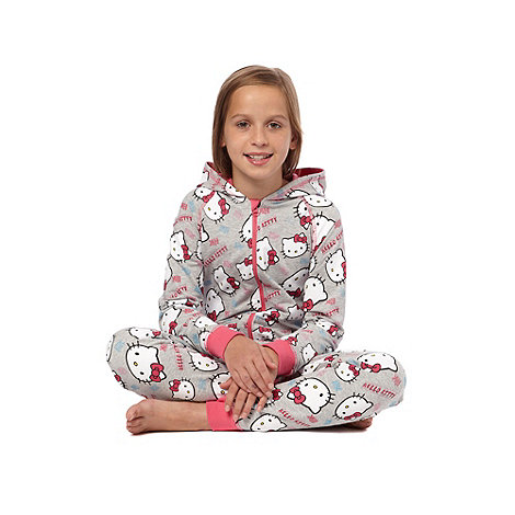 Hello Kitty - Girl+s pink +Hello Kitty+ onesie
