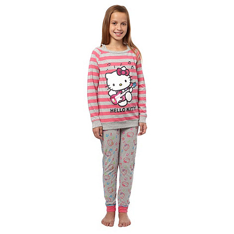 Hello Kitty - Girl+s pink +Hello Kitty+ pyjamas