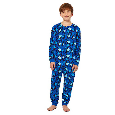 bluezoo - Boy+s blue star onesie